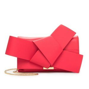 Ted Baker London Asterr Knot Bow Clutch Bag Red